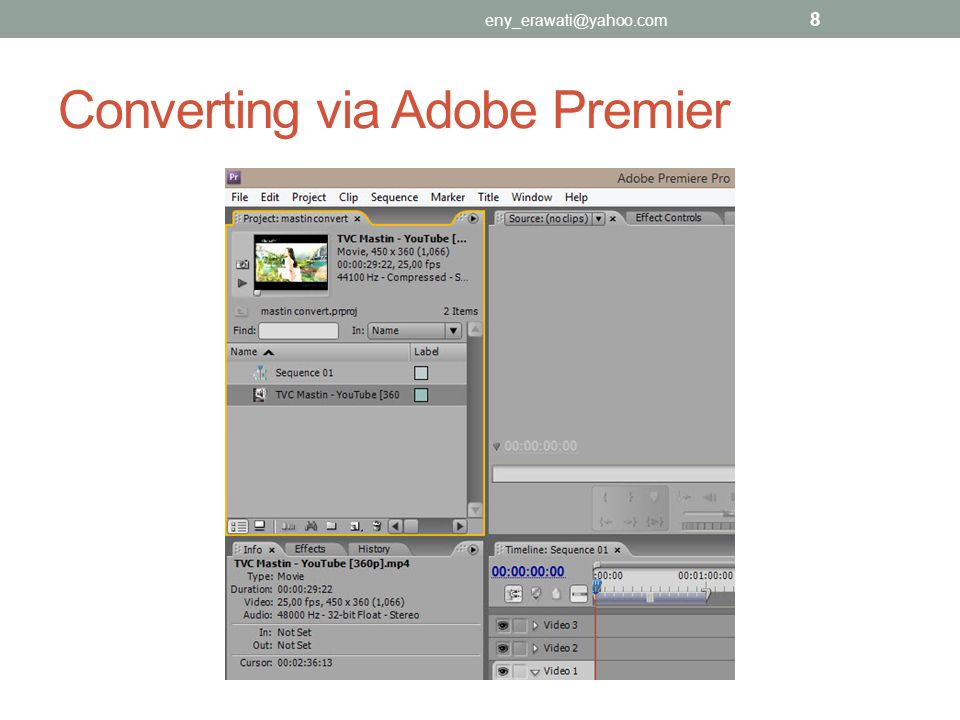 Converting via Adobe Premier