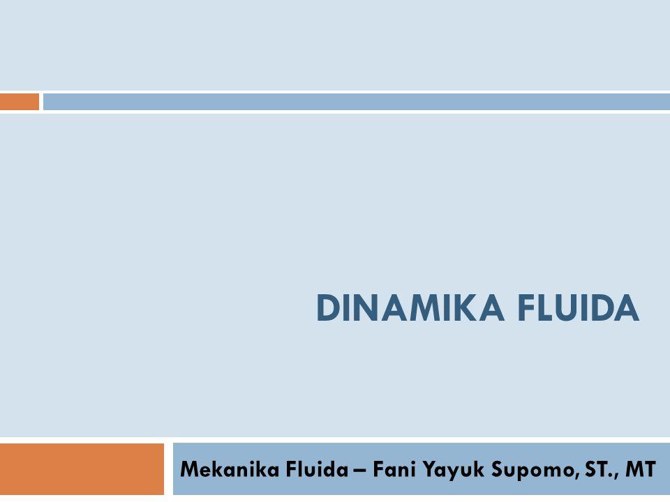Mekanika Fluida – Fani Yayuk Supomo, ST., MT