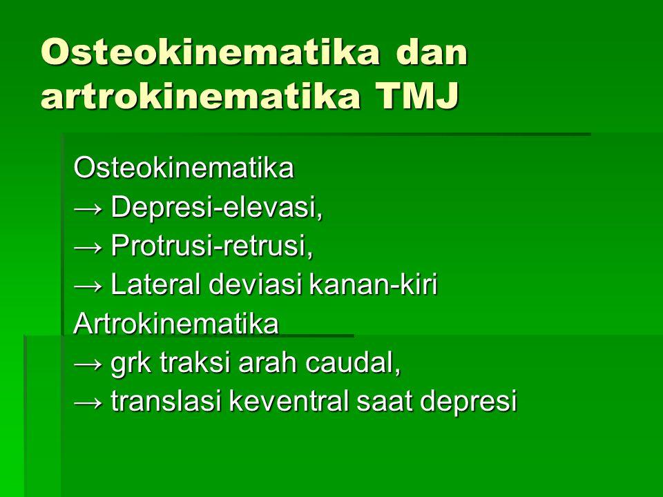 Osteokinematika dan artrokinematika TMJ
