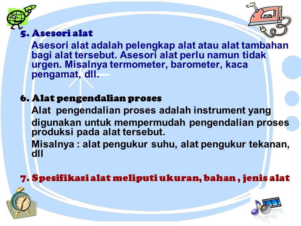 5. Asesori alat