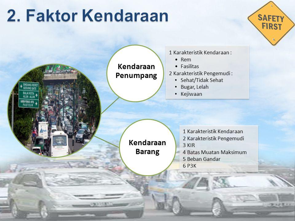 2. Faktor Kendaraan Kendaraan Penumpang Kendaraan Barang