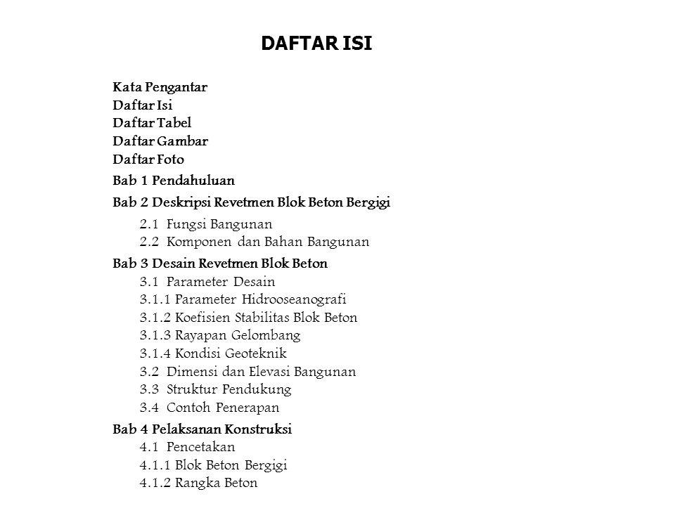 DAFTAR ISI Kata Pengantar Daftar Isi Daftar Tabel Daftar Gambar