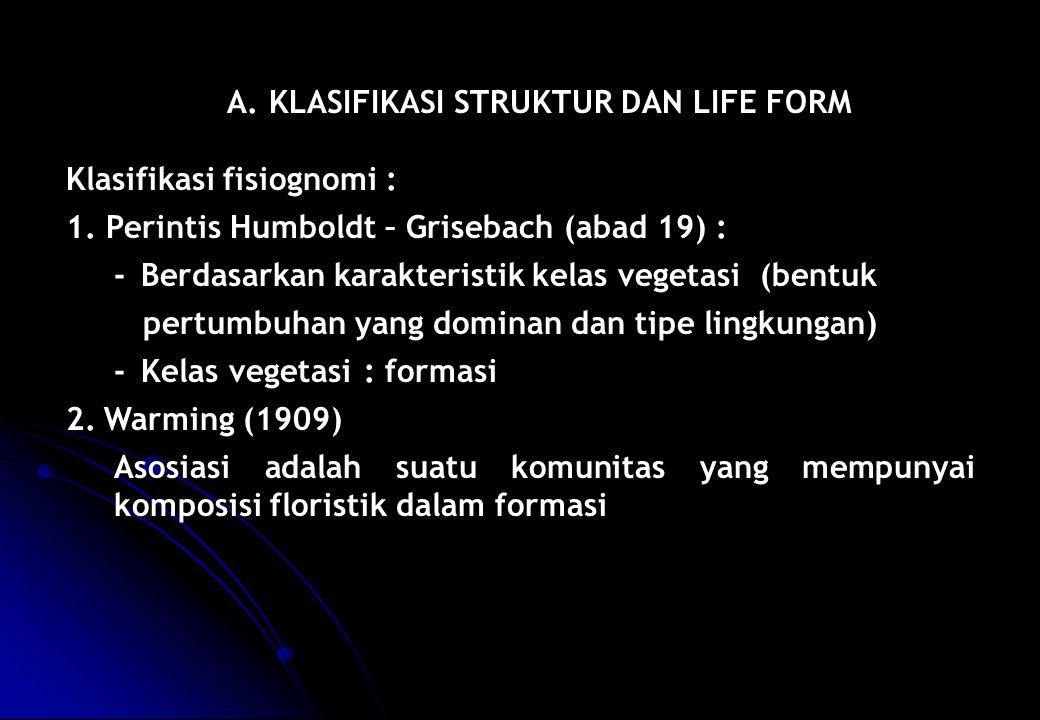 A. KLASIFIKASI STRUKTUR DAN LIFE FORM