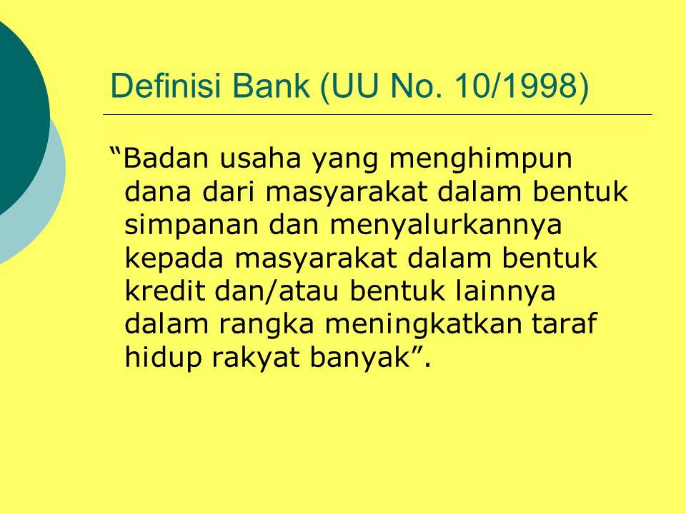 Definisi Bank (UU No. 10/1998)