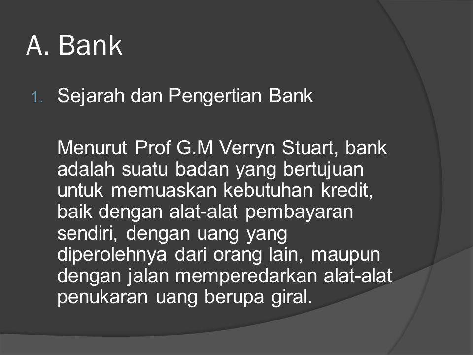 A. Bank Sejarah dan Pengertian Bank