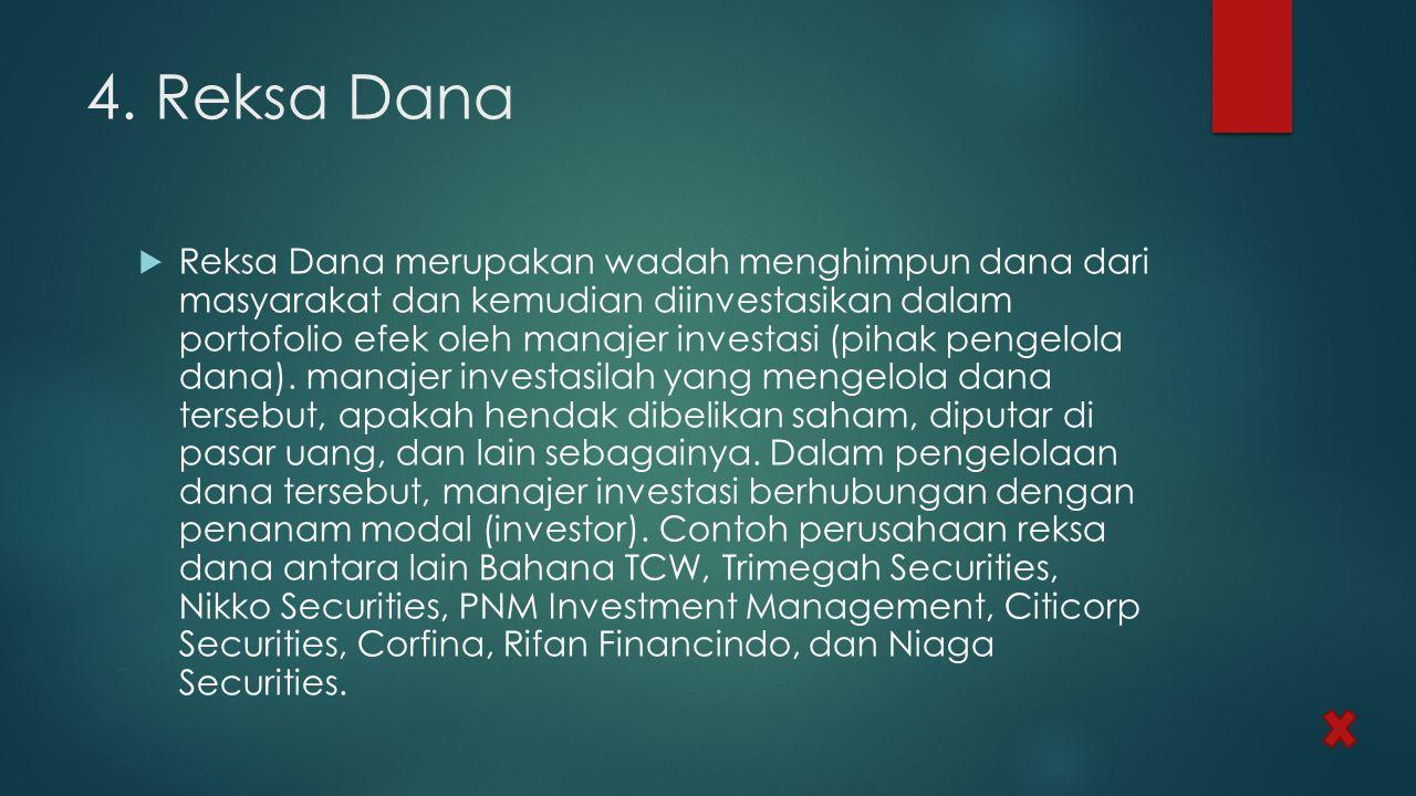4. Reksa Dana