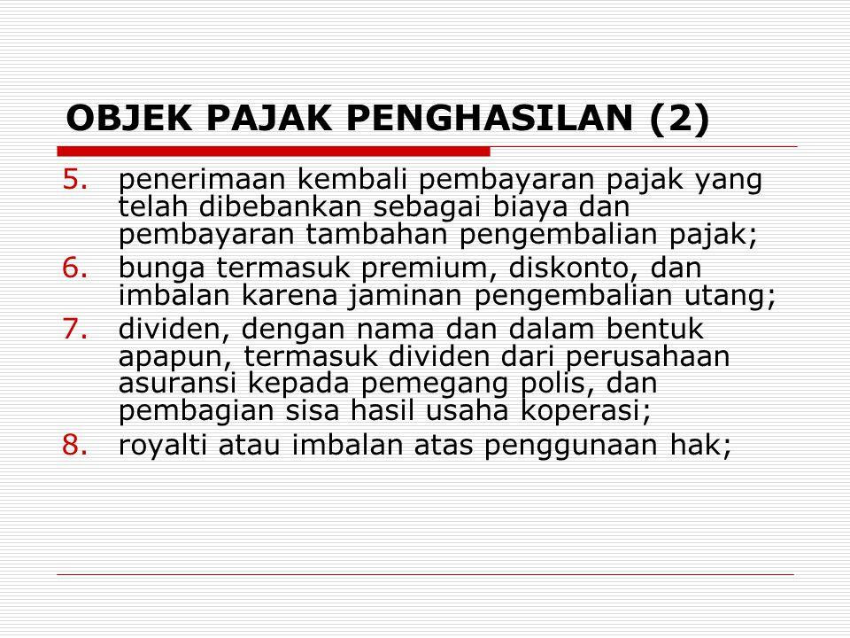 OBJEK PAJAK PENGHASILAN (2)