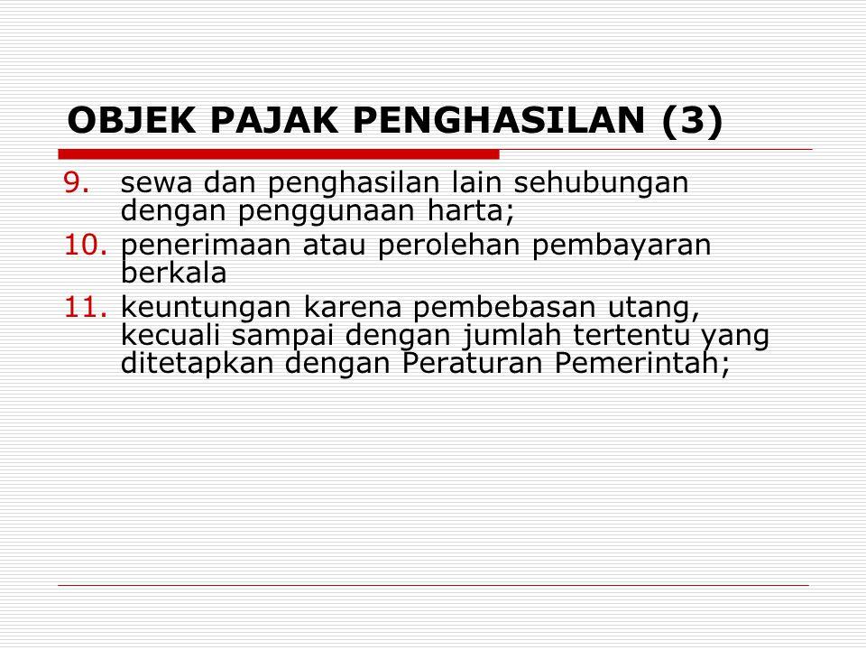 OBJEK PAJAK PENGHASILAN (3)