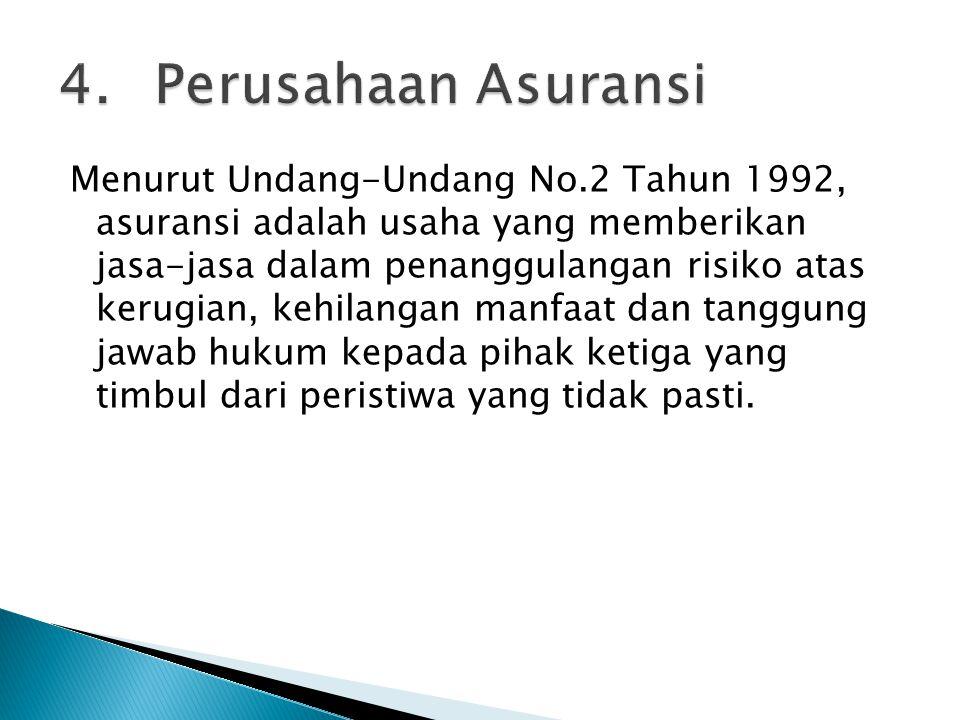 4. Perusahaan Asuransi