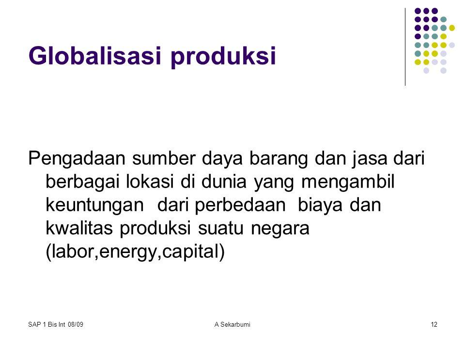 Globalisasi produksi