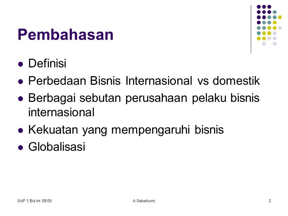 Pembahasan Definisi Perbedaan Bisnis Internasional vs domestik