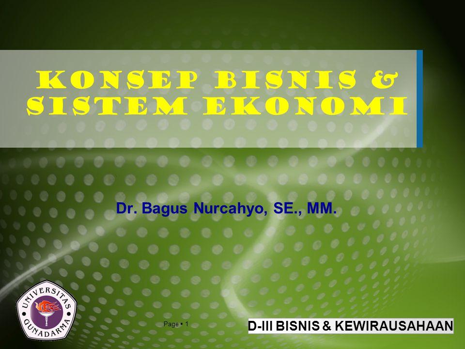 Konsep Bisnis & Sistem Ekonomi