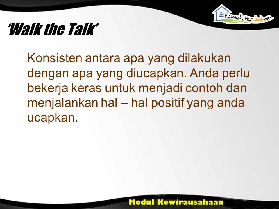 'Walk the Talk'