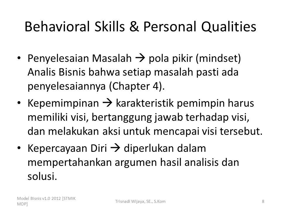 Behavioral Skills & Personal Qualities