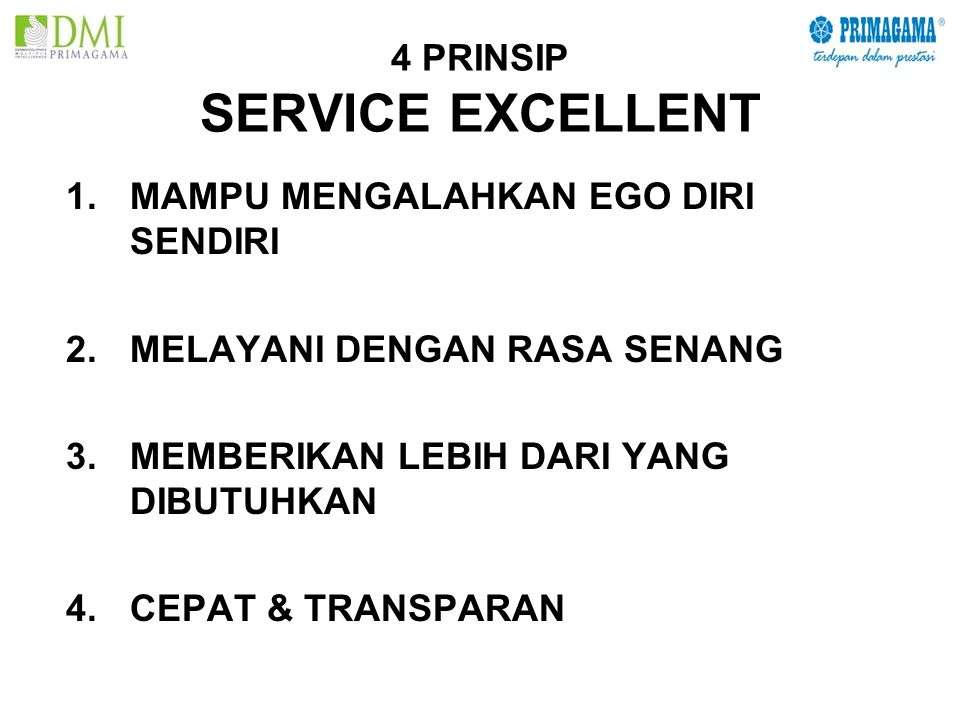 4 PRINSIP SERVICE EXCELLENT