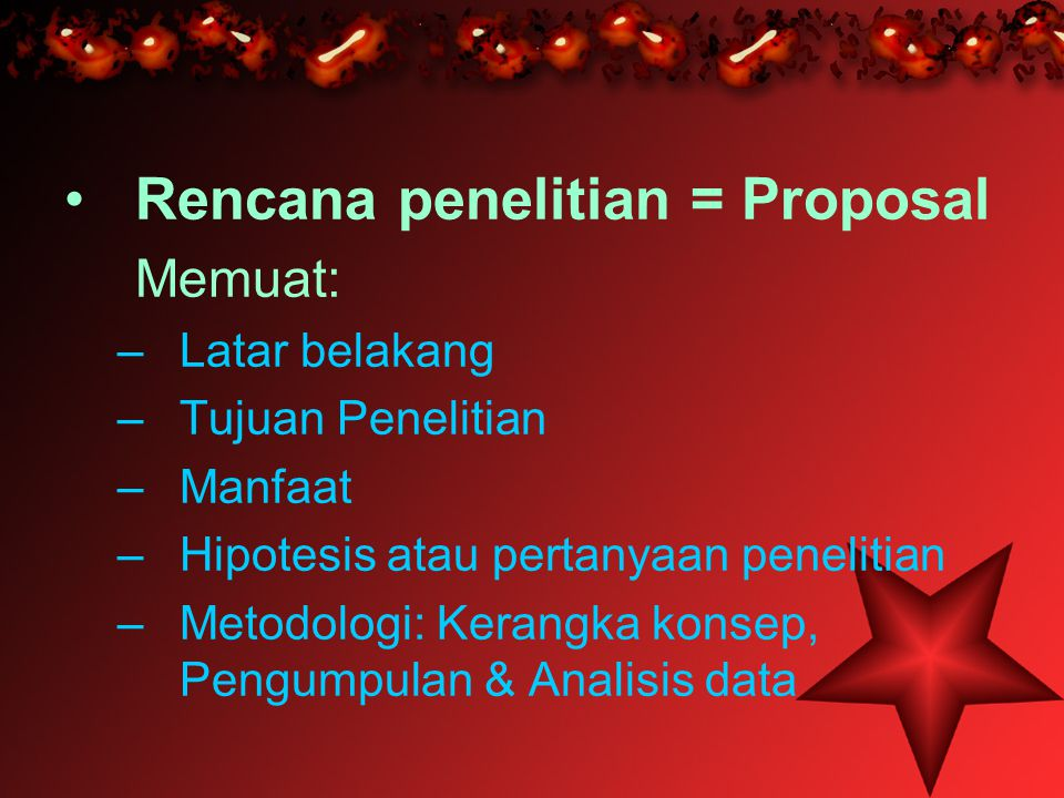 Rencana penelitian = Proposal