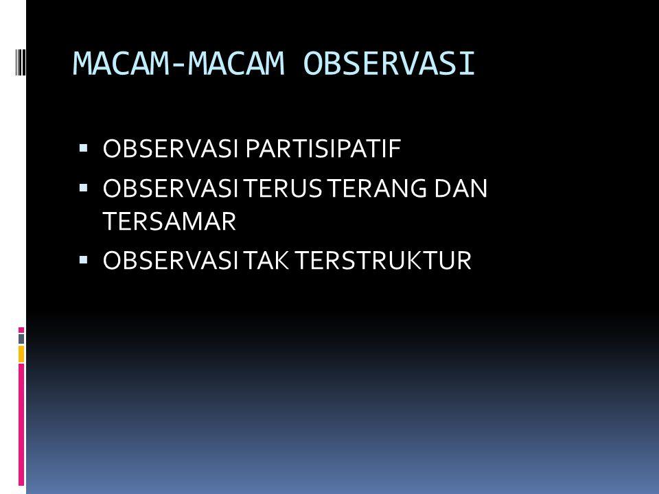 MACAM-MACAM OBSERVASI