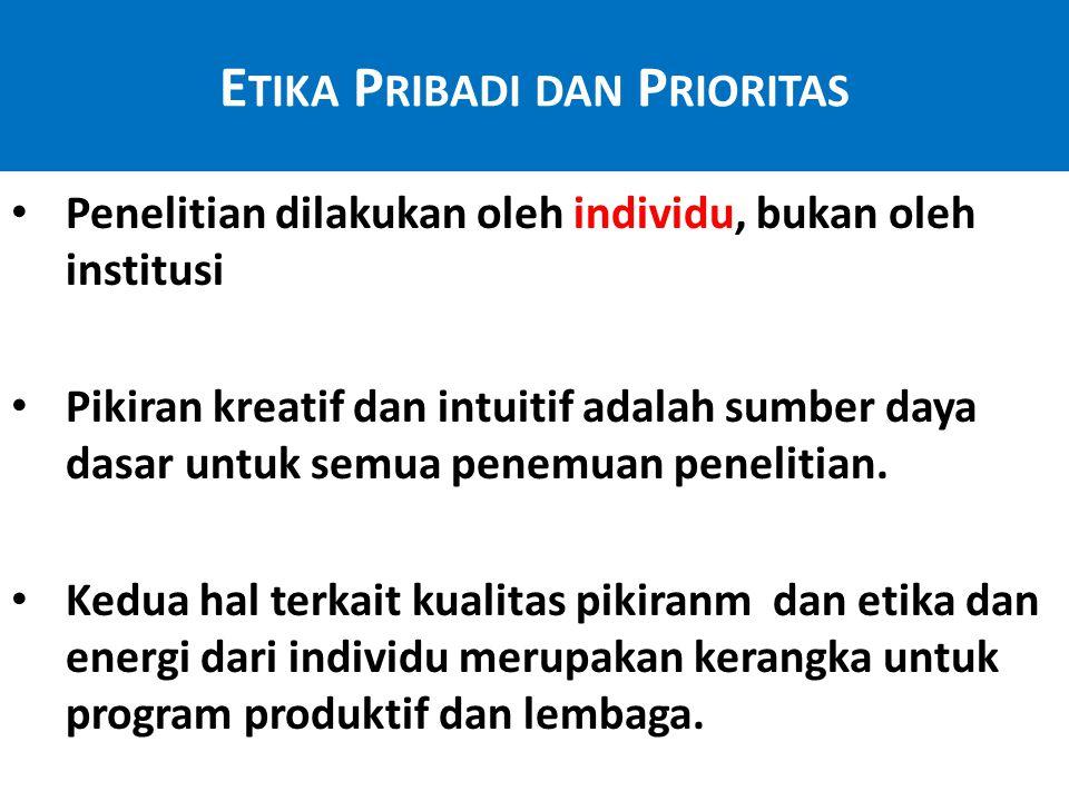 Etika Pribadi dan Prioritas