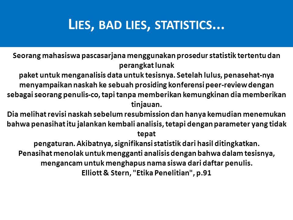 Lies, bad lies, statistics...