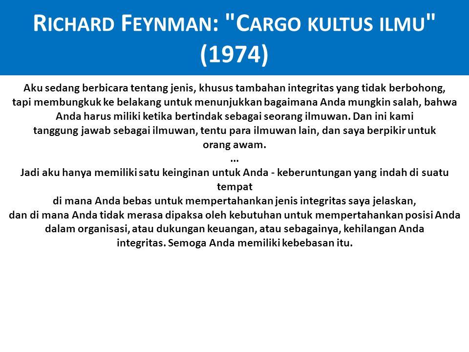 Richard Feynman: Cargo kultus ilmu (1974)