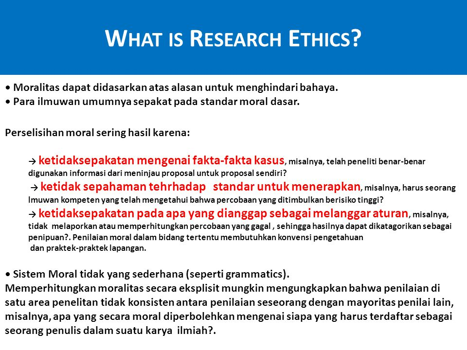 What is Research Ethics