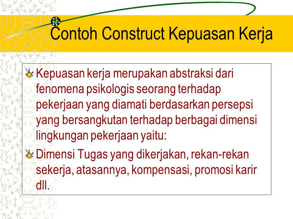 Contoh Construct Kepuasan Kerja