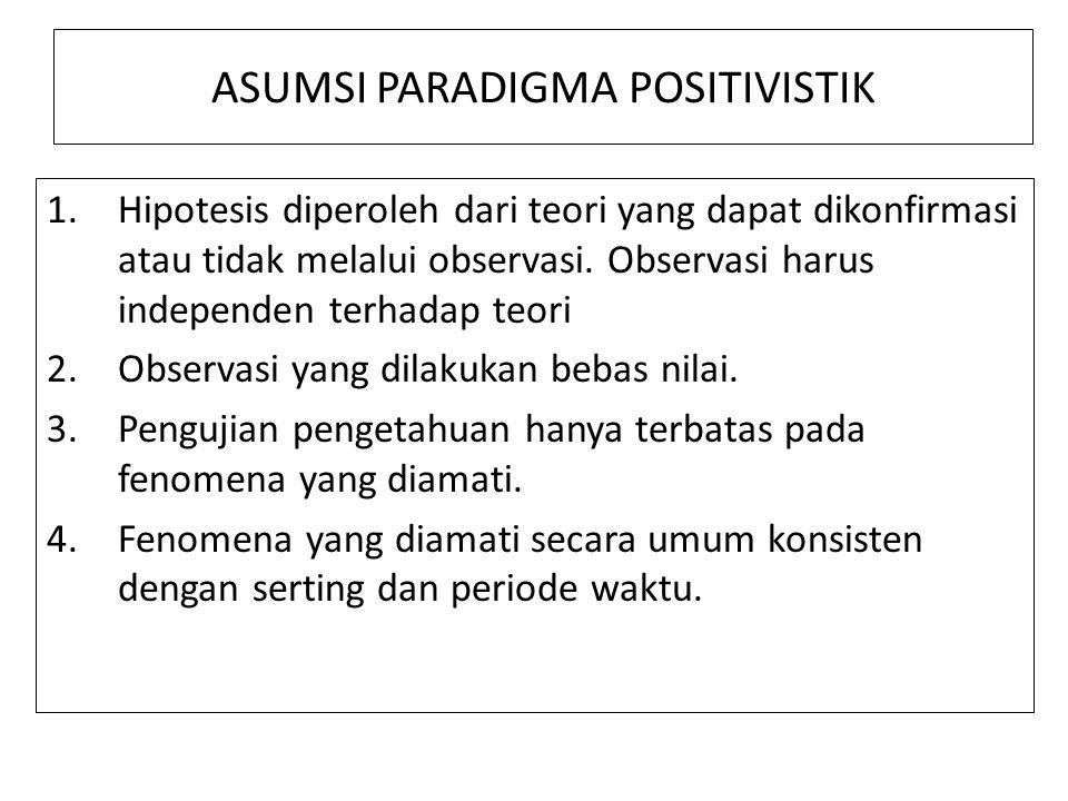 ASUMSI PARADIGMA POSITIVISTIK