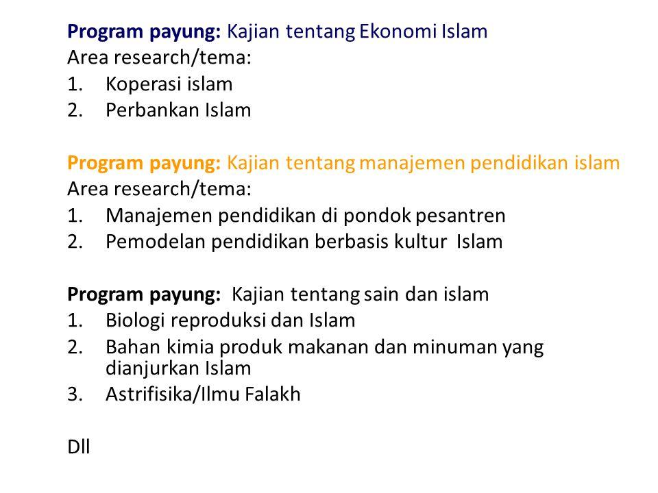 Program payung: Kajian tentang Ekonomi Islam