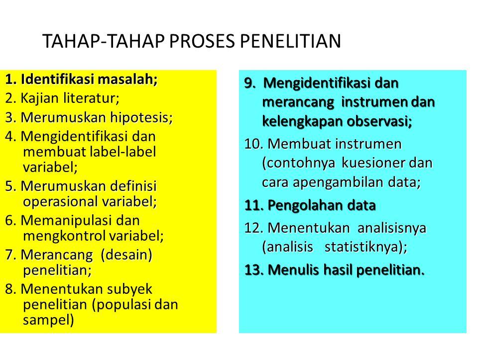 TAHAP-TAHAP PROSES PENELITIAN