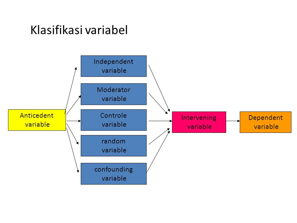 Klasifikasi variabel Independent variable Moderator variable