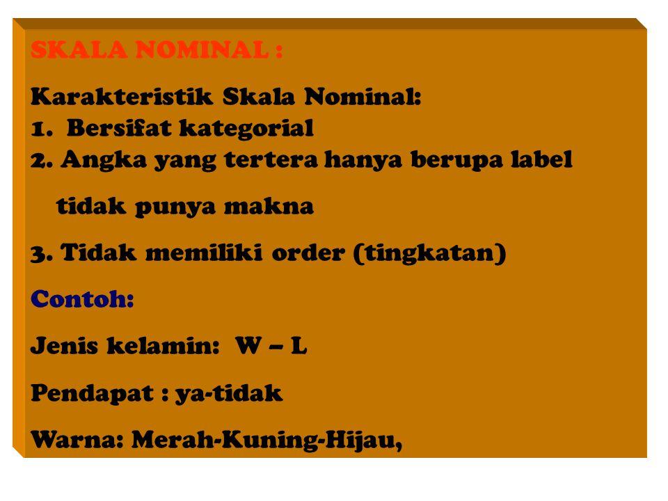 SKALA NOMINAL :