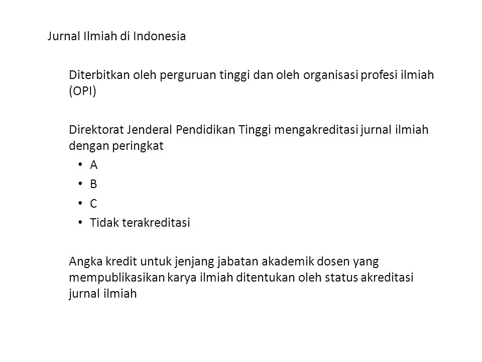 Jurnal Ilmiah di Indonesia