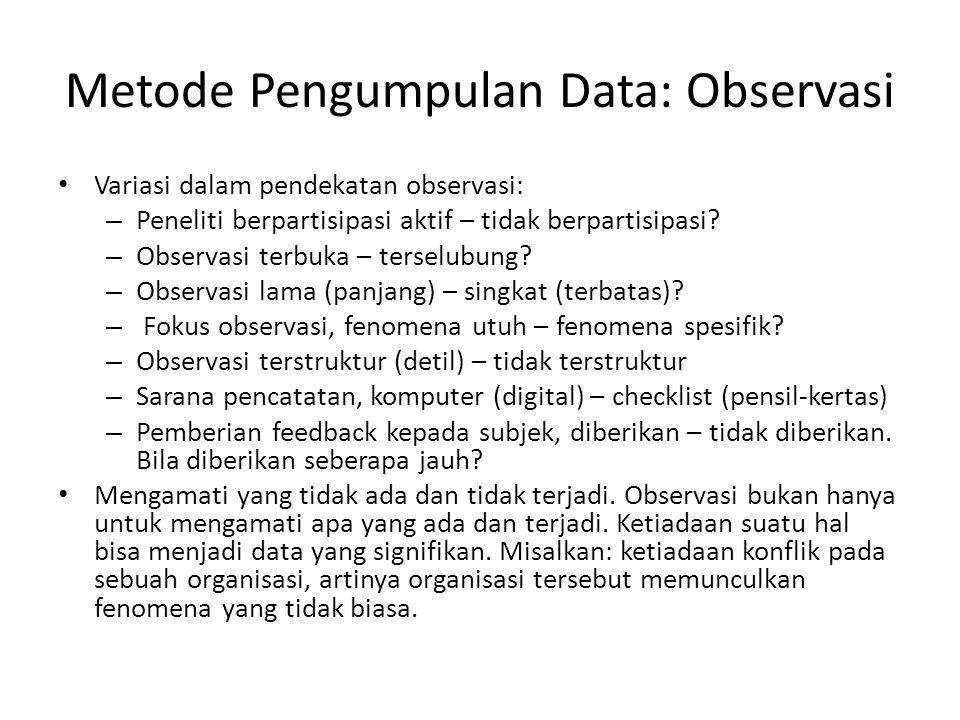 Metode Pengumpulan Data: Observasi