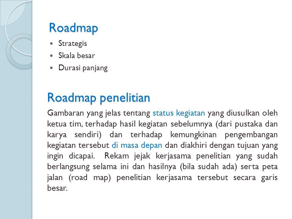 Roadmap Roadmap penelitian