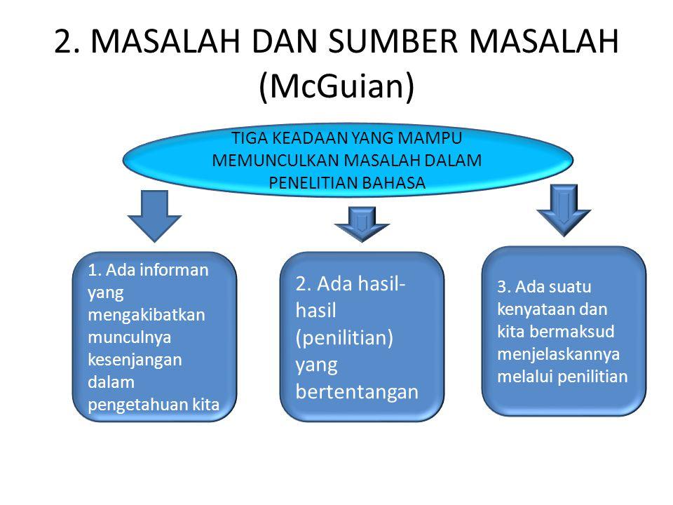 2. MASALAH DAN SUMBER MASALAH (McGuian)