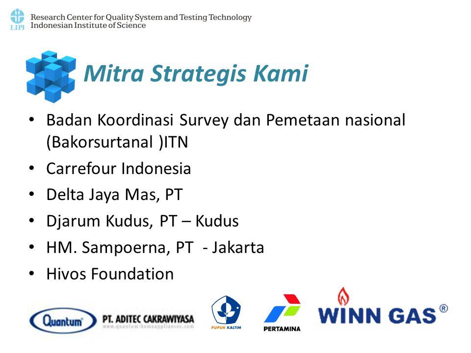 Mitra Strategis Kami Badan Koordinasi Survey dan Pemetaan nasional (Bakorsurtanal )ITN. Carrefour Indonesia.