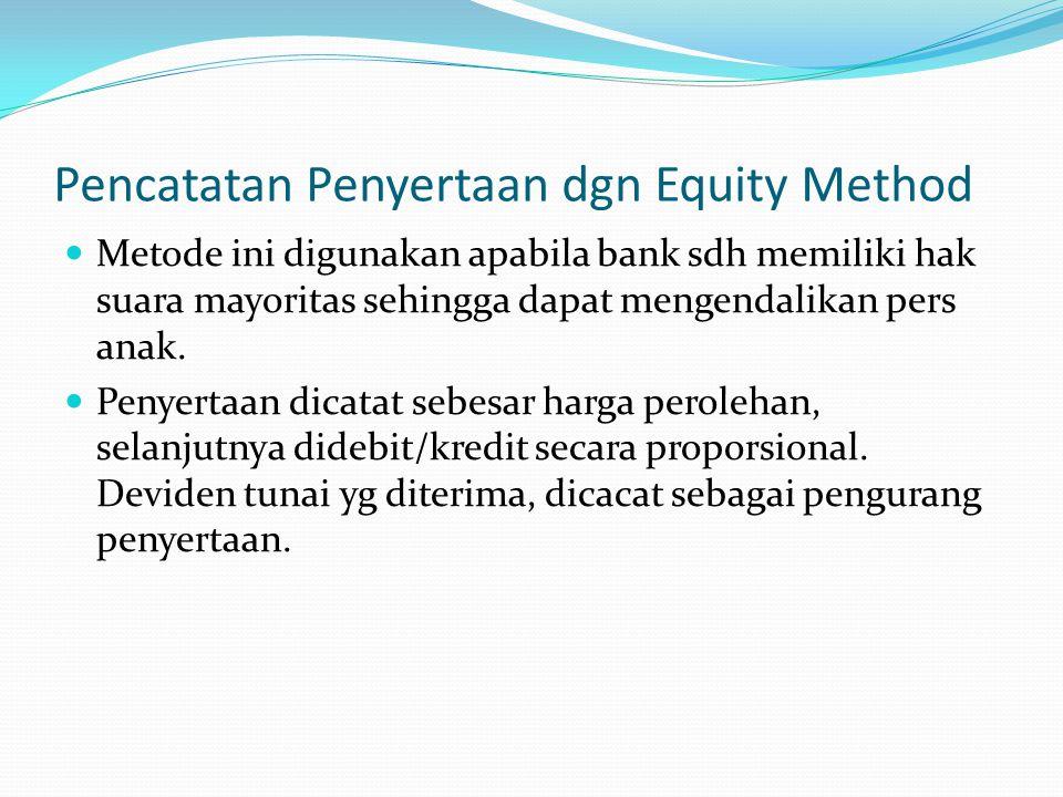 Pencatatan Penyertaan dgn Equity Method