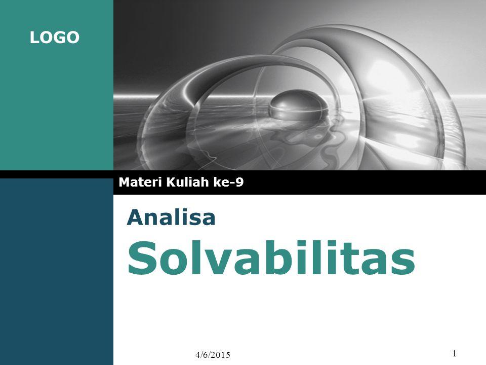 Materi Kuliah ke-9 Analisa Solvabilitas 4/9/2017