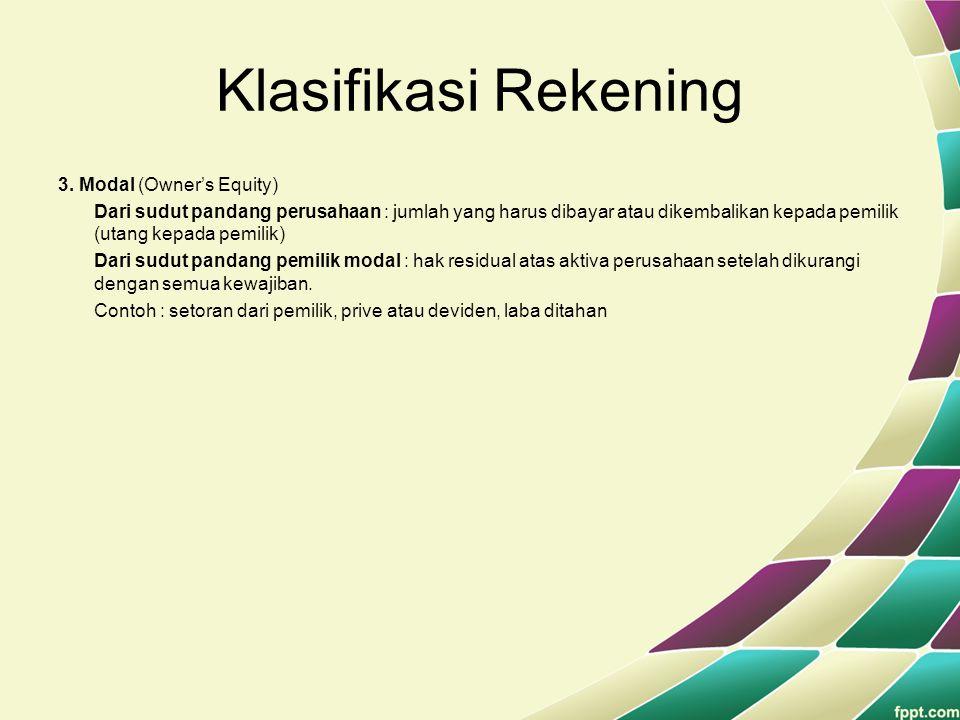 Klasifikasi Rekening