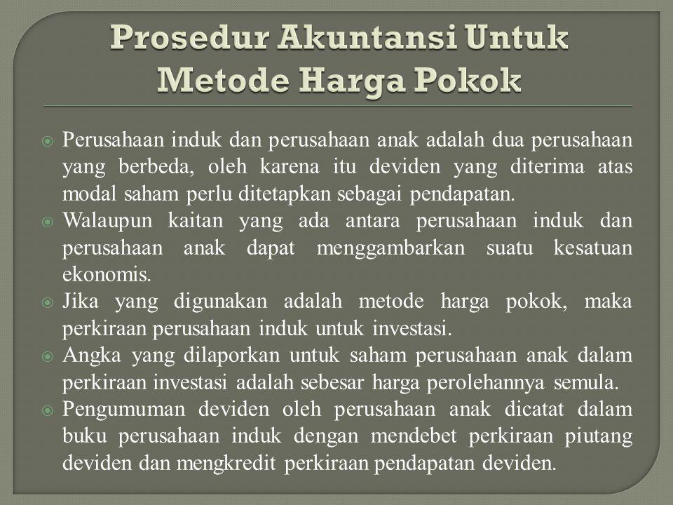 Prosedur Akuntansi Untuk Metode Harga Pokok