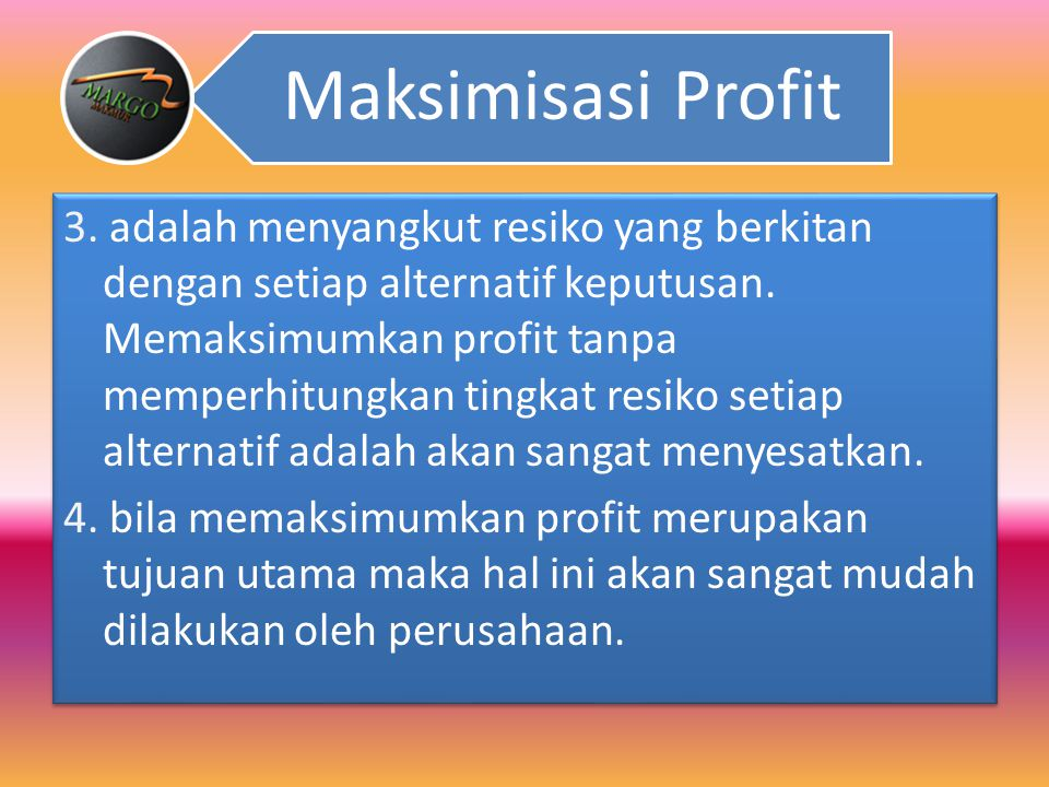 Maksimisasi Profit