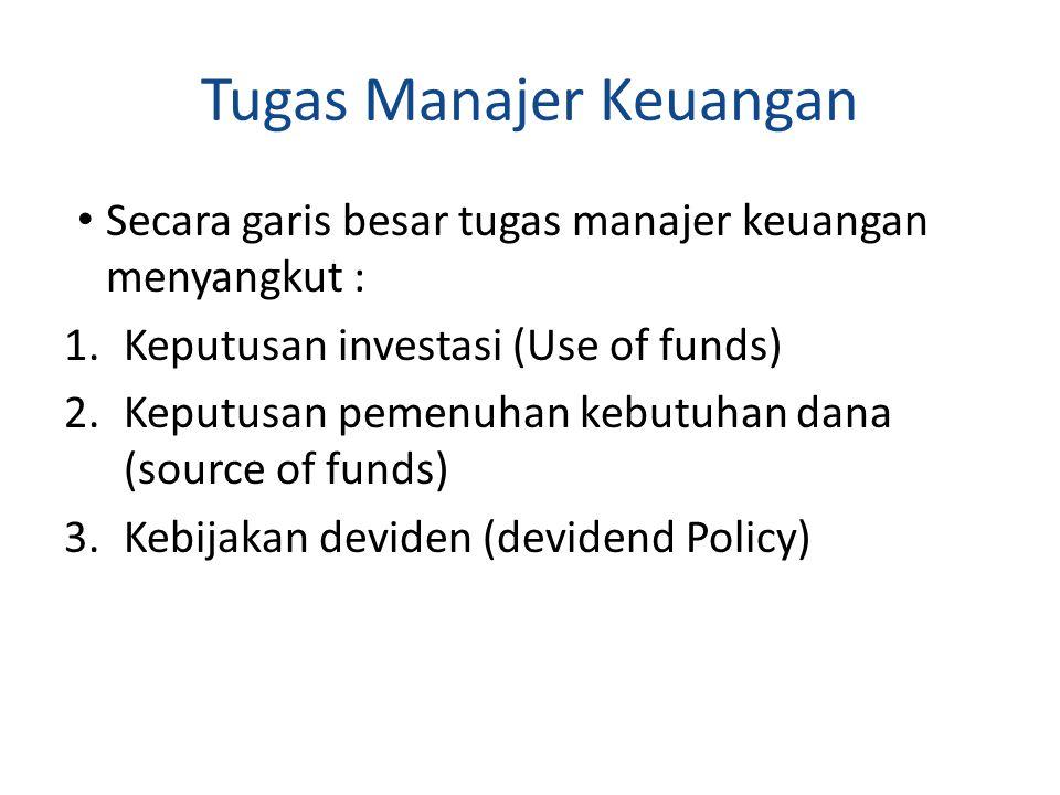 Tugas Manajer Keuangan