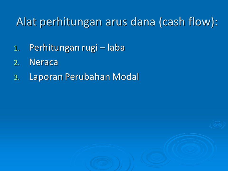 Alat perhitungan arus dana (cash flow):