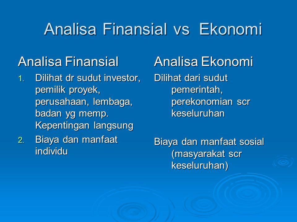 Analisa Finansial vs Ekonomi