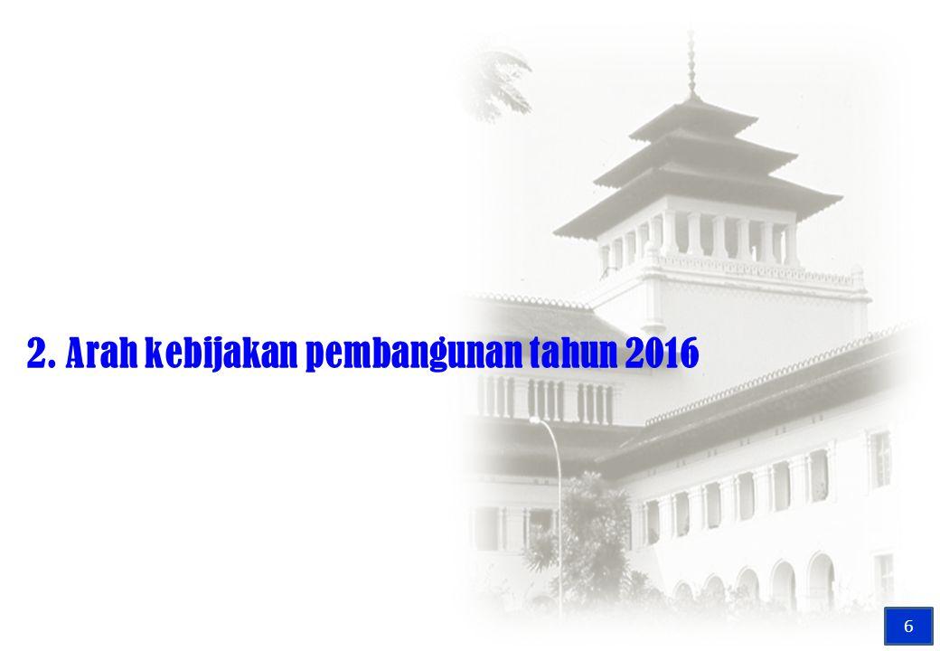 2. Arah kebijakan pembangunan tahun 2016