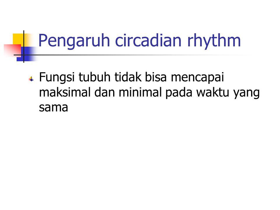 Pengaruh circadian rhythm