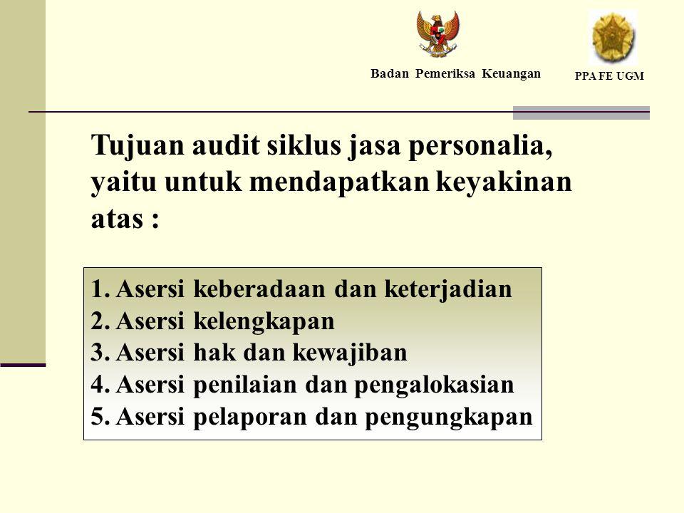 Tujuan audit siklus jasa personalia, yaitu untuk mendapatkan keyakinan