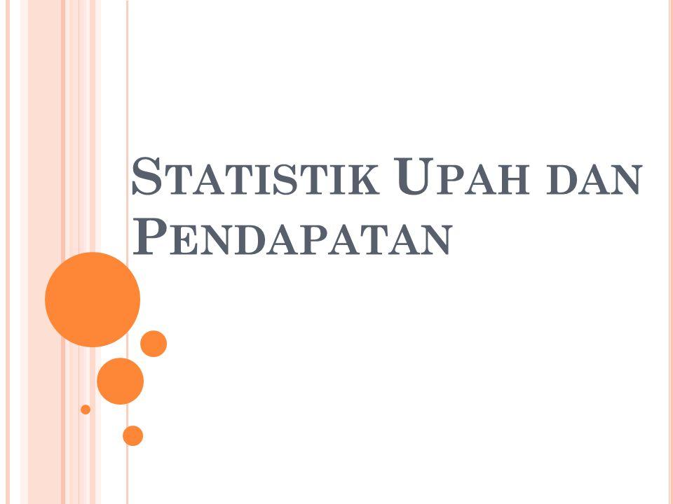 Statistik Upah dan Pendapatan