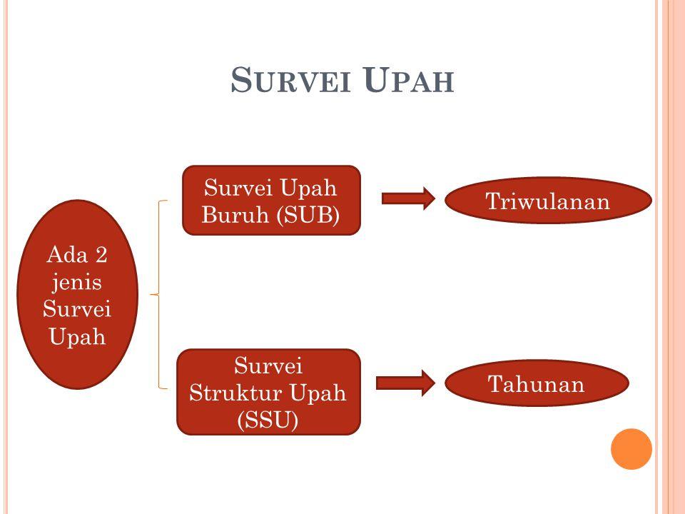 Survei Upah Survei Upah Buruh (SUB) Triwulanan Ada 2 jenis Survei Upah