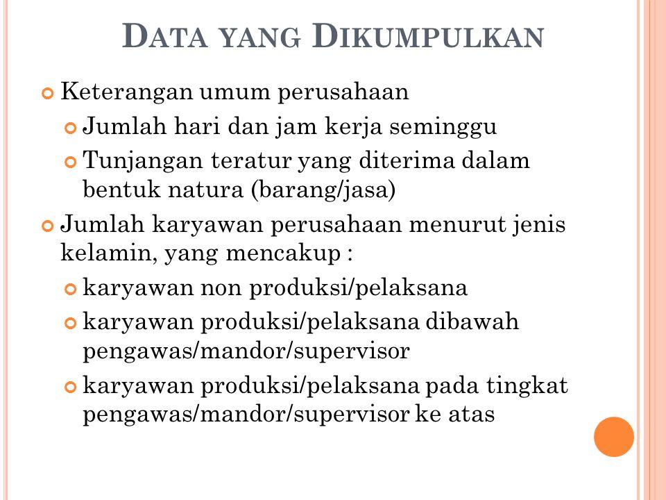 Data yang Dikumpulkan Keterangan umum perusahaan